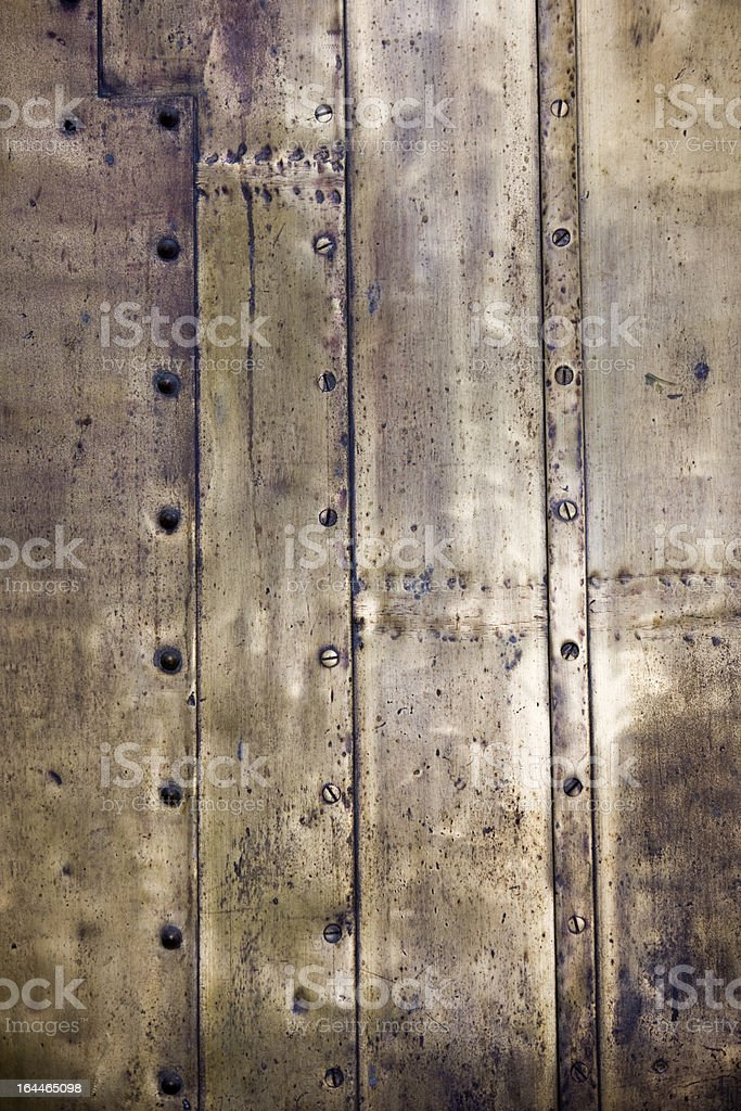 Antique brass plate background. stock photo