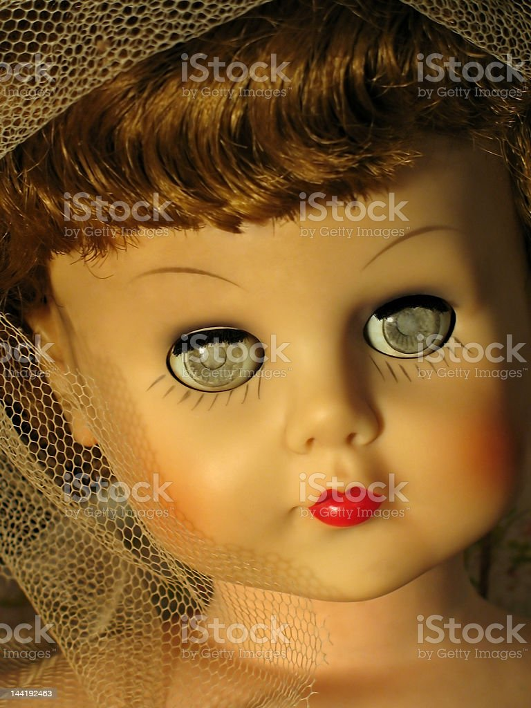Antique Bride Doll royalty-free stock photo