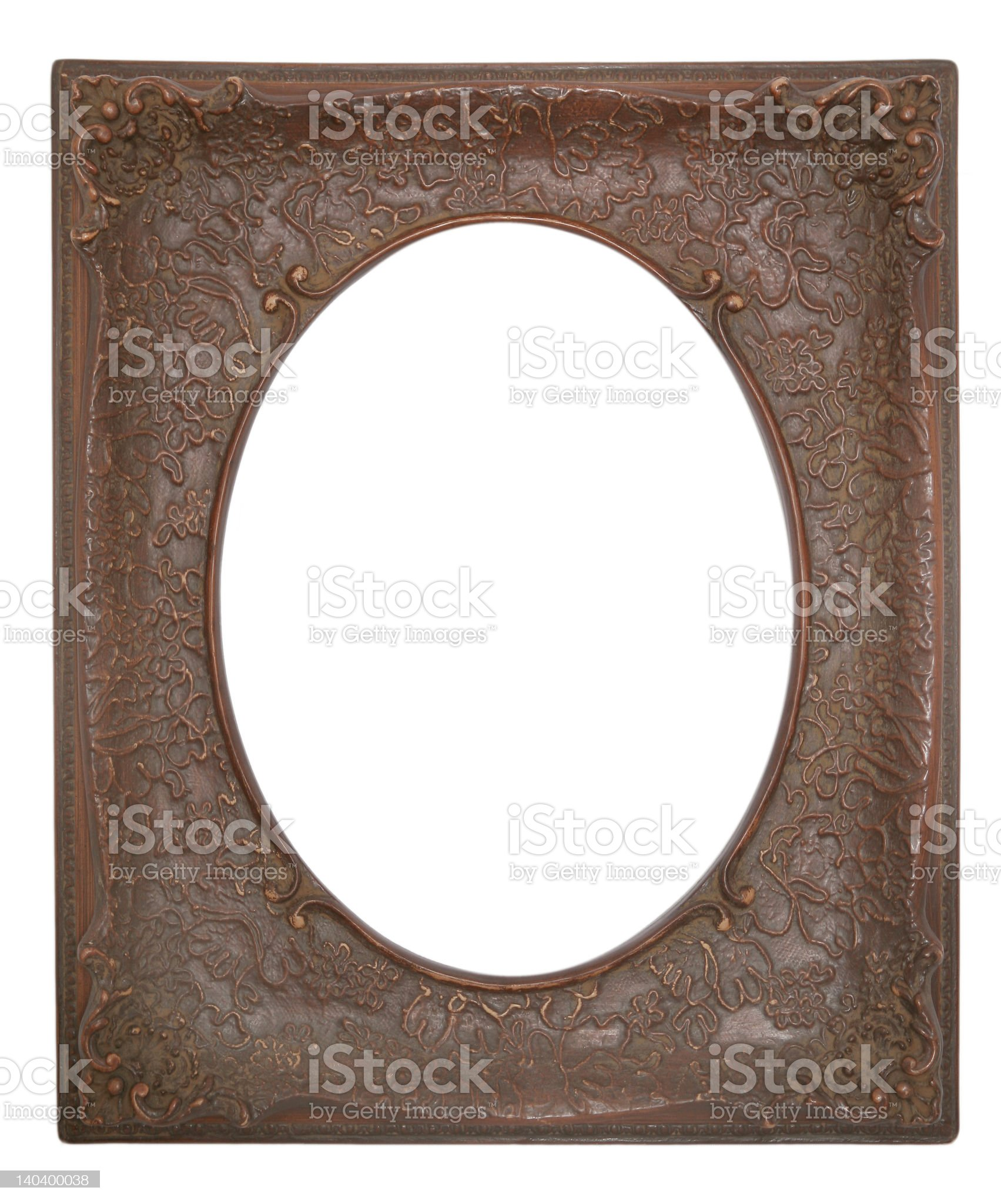 Antique Brown Frame royalty-free stock photo