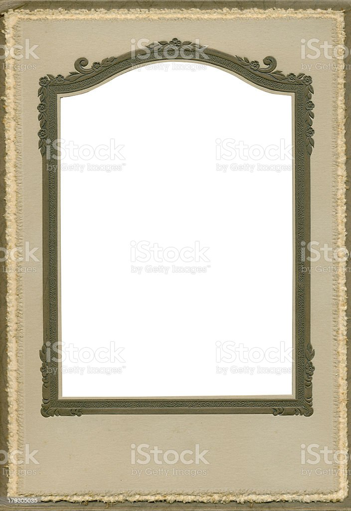 Antique brown scroll frame royalty-free stock photo