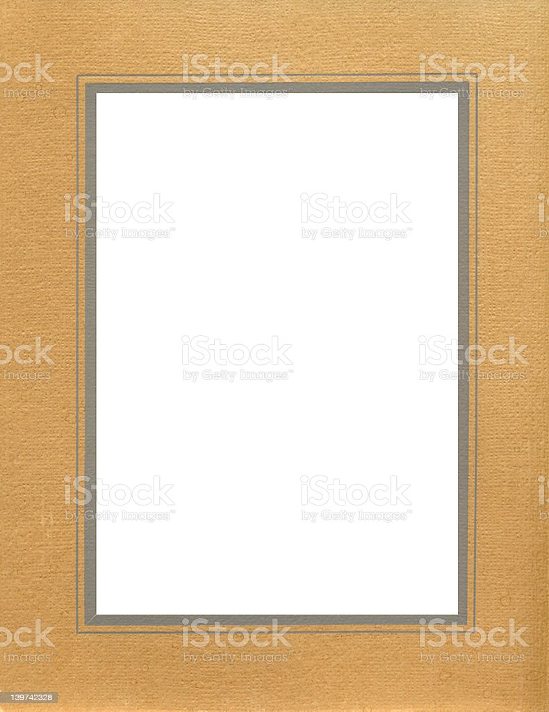 antique brown textured frame royalty-free stock photo