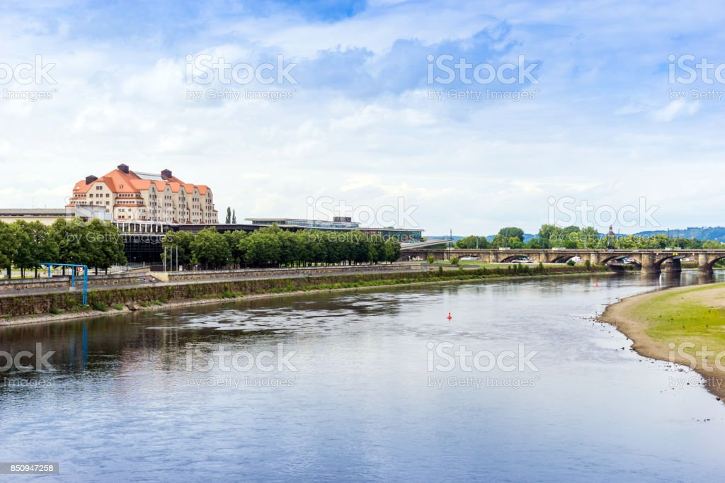 antique building view in Dresden stock photo