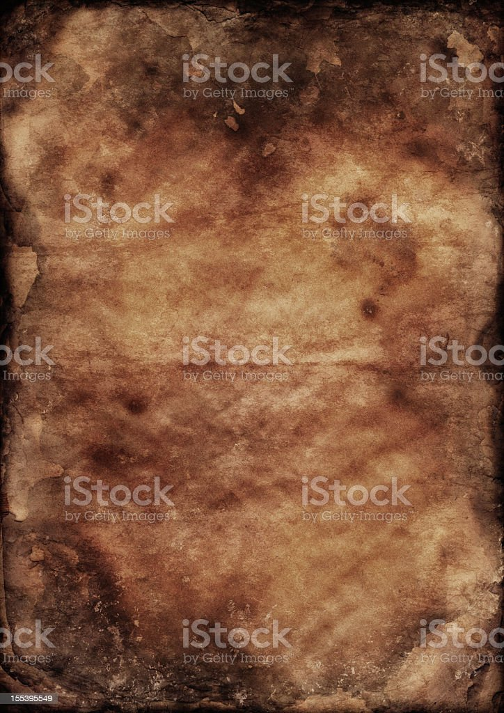 Antique Burnt Paper High Resolution Grunge Texture royalty-free stock photo