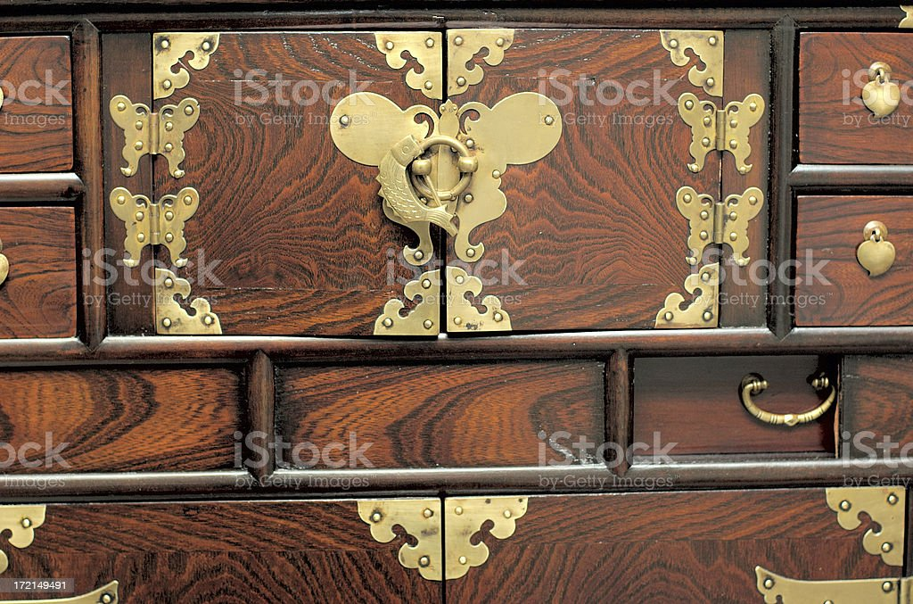 Antique Butterfly Hinge Box royalty-free stock photo