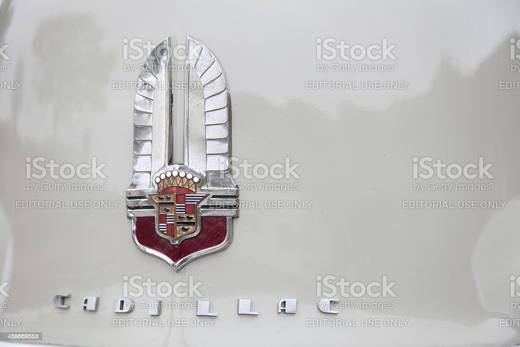 Antique Cadillac Front Hood royalty-free stock photo