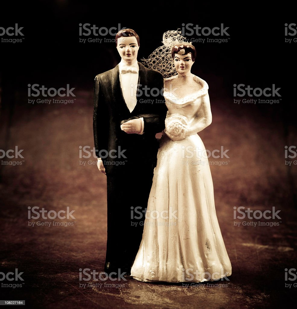 antique cake figurines royalty-free stock photo