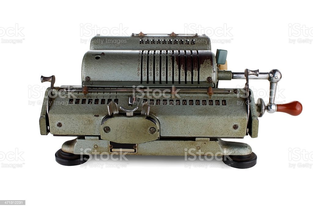 Antique Calculator royalty-free stock photo