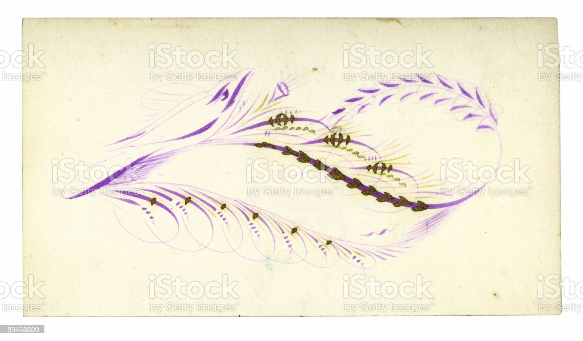 Antique Calling Card 14 royalty-free stock photo