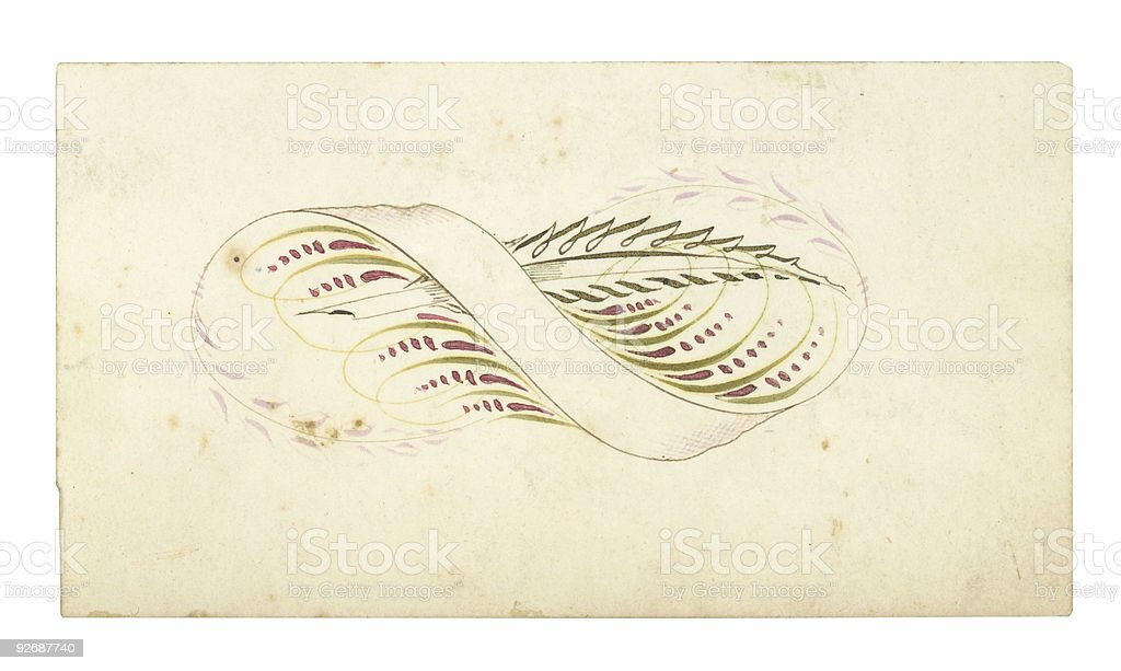 Antique Calling Card - 17 royalty-free stock photo