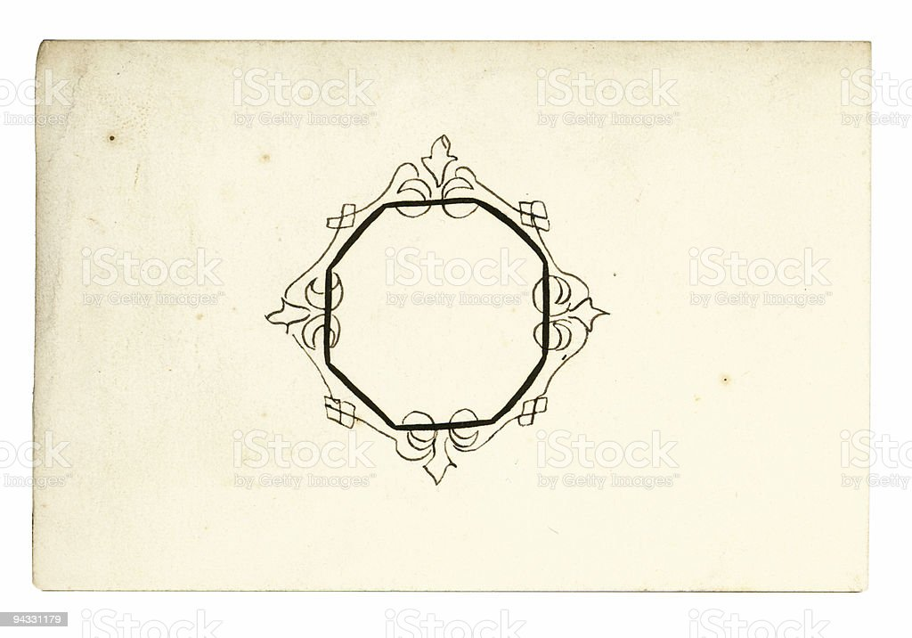 Antique Calling Card - 28 royalty-free stock photo