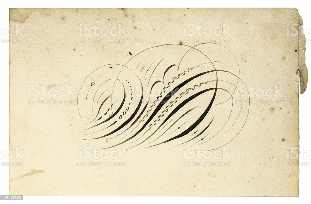 Antique Calling Card-7 royalty-free stock photo
