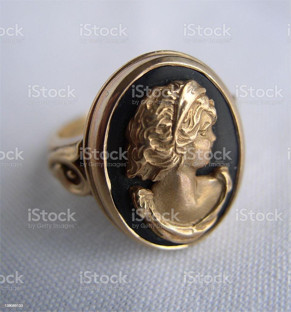 Antique Cameo Ring stock photo