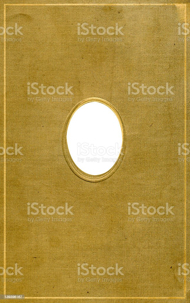 Antique cameo style oval frame royalty-free stock photo