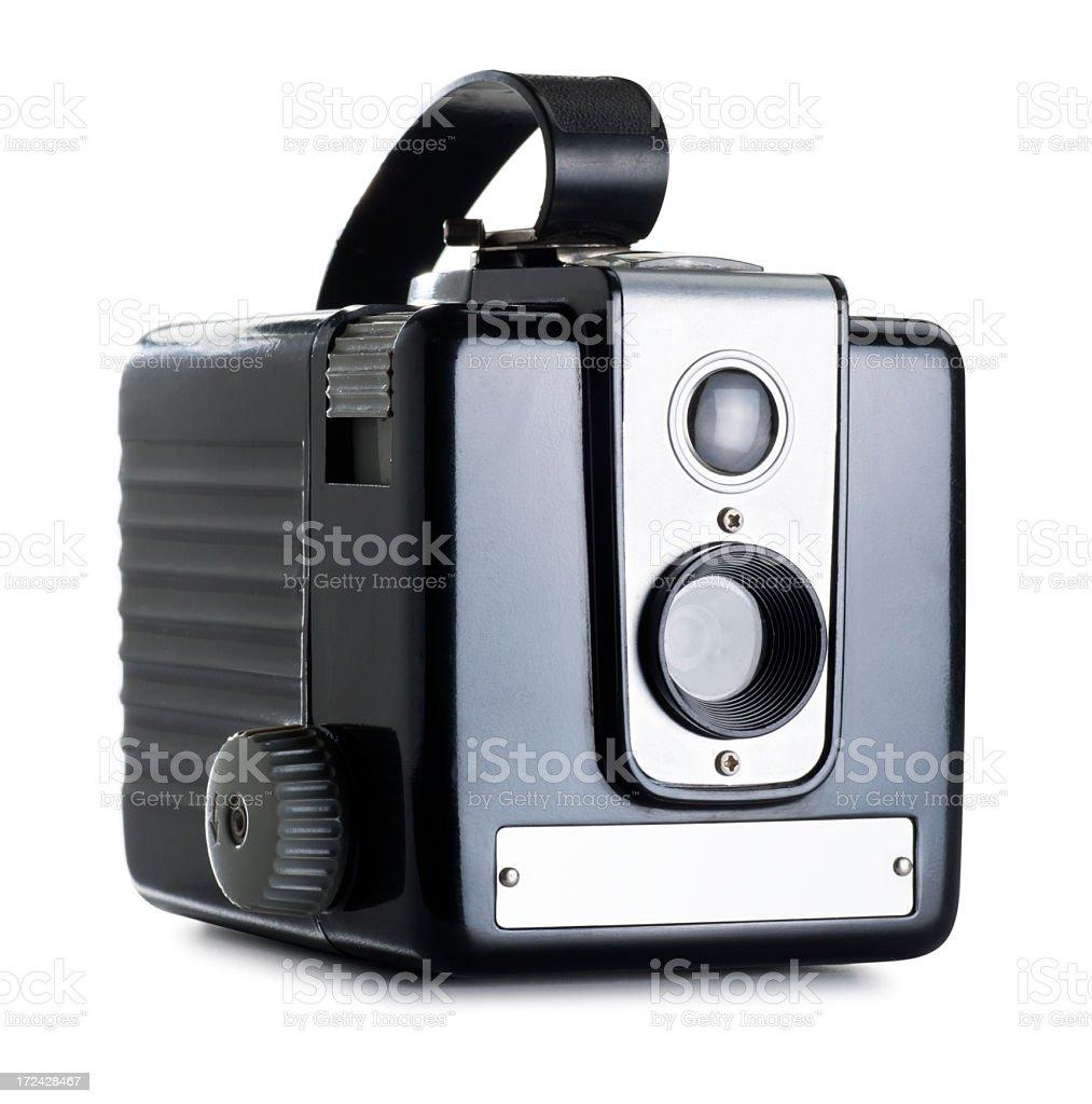 Antique Camera Isolated on White stock photo