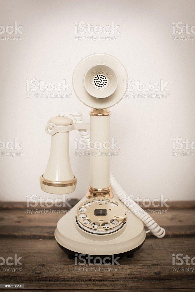 Antique Candlestick Rotary Telephone stock photo