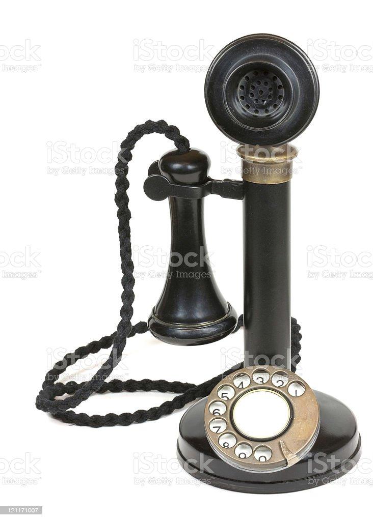 Antique Candlestick Telephone stock photo