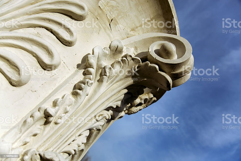 Antique capital of column royalty-free stock photo