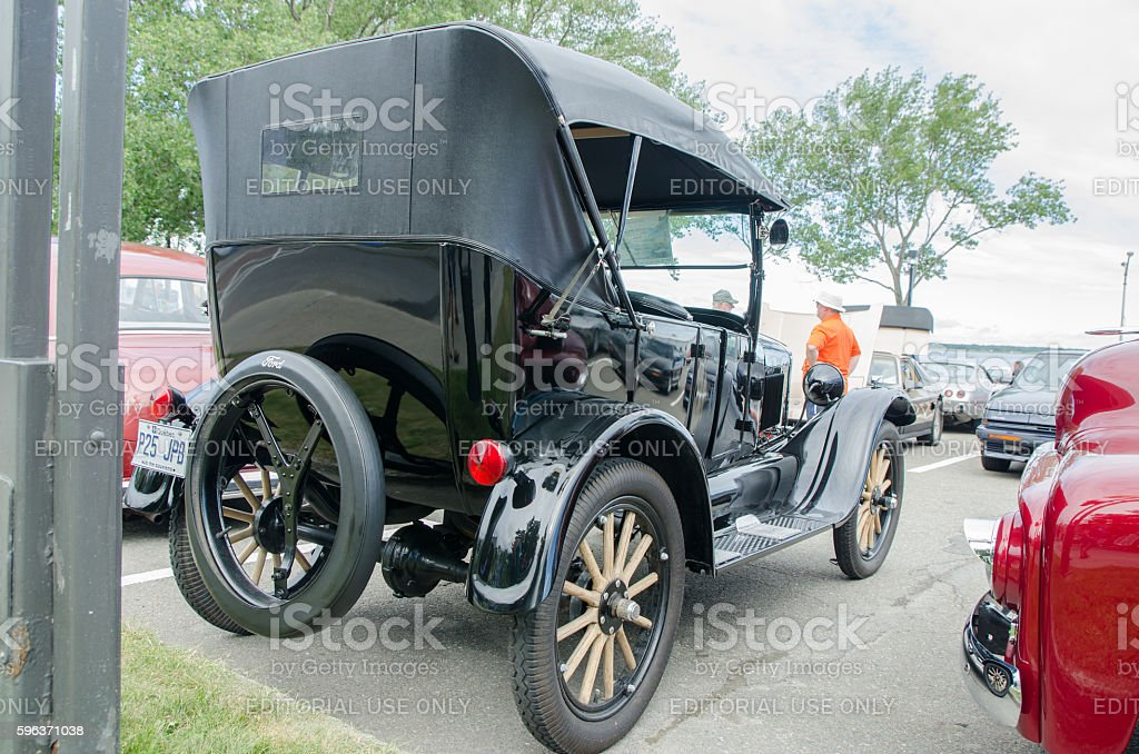 Antique Car: Ford T 1925 stock photo