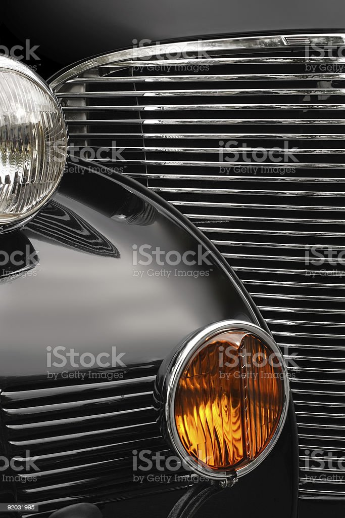 Antique car grill royalty-free stock photo