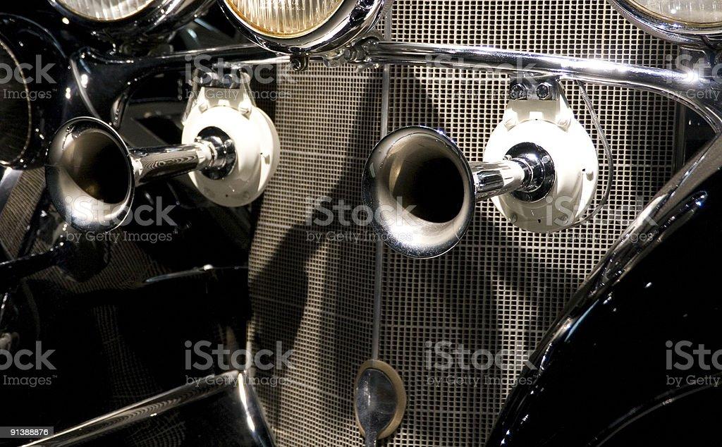 Antique Car Horns stock photo