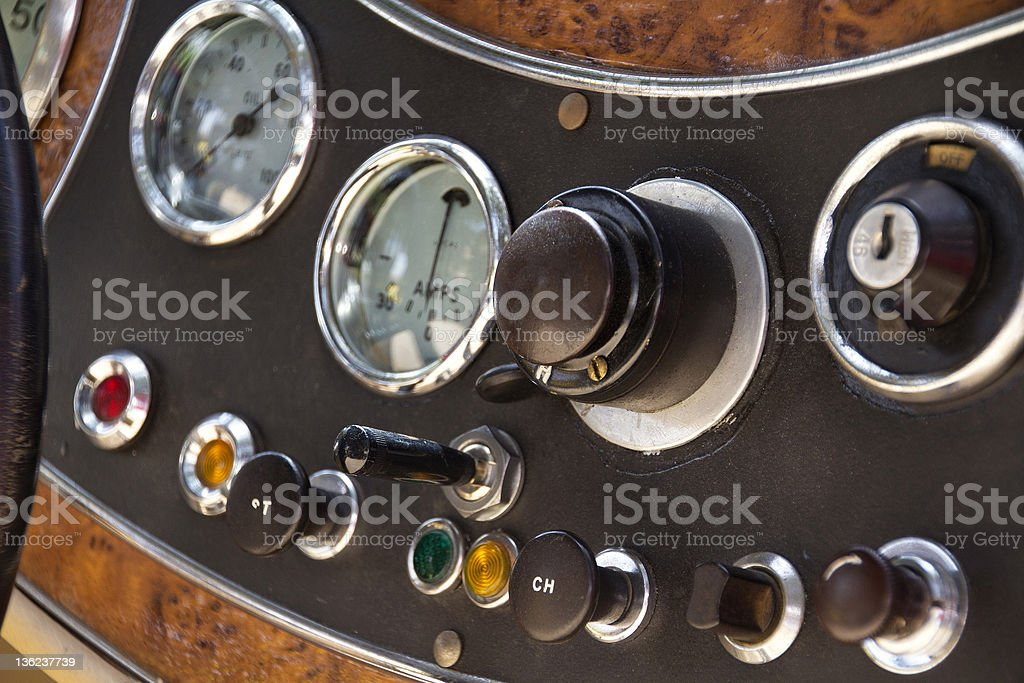 antique car indicators, 1940 stock photo