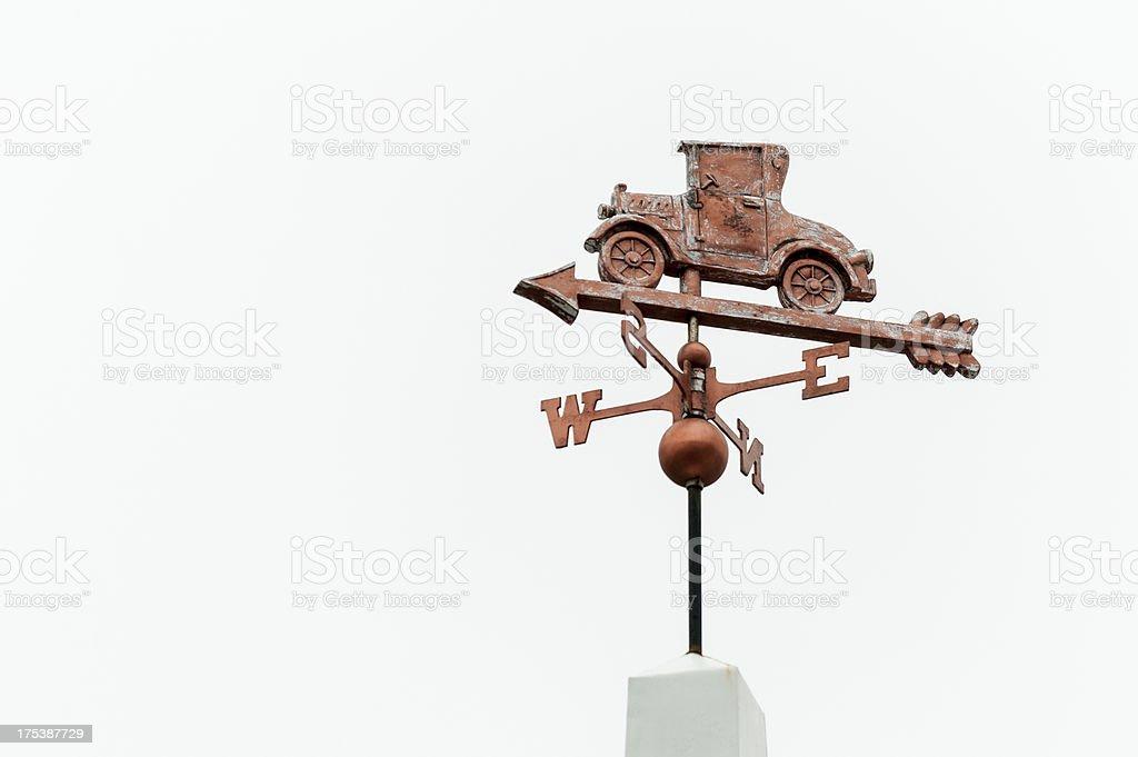 Antique Car Weathervane stock photo