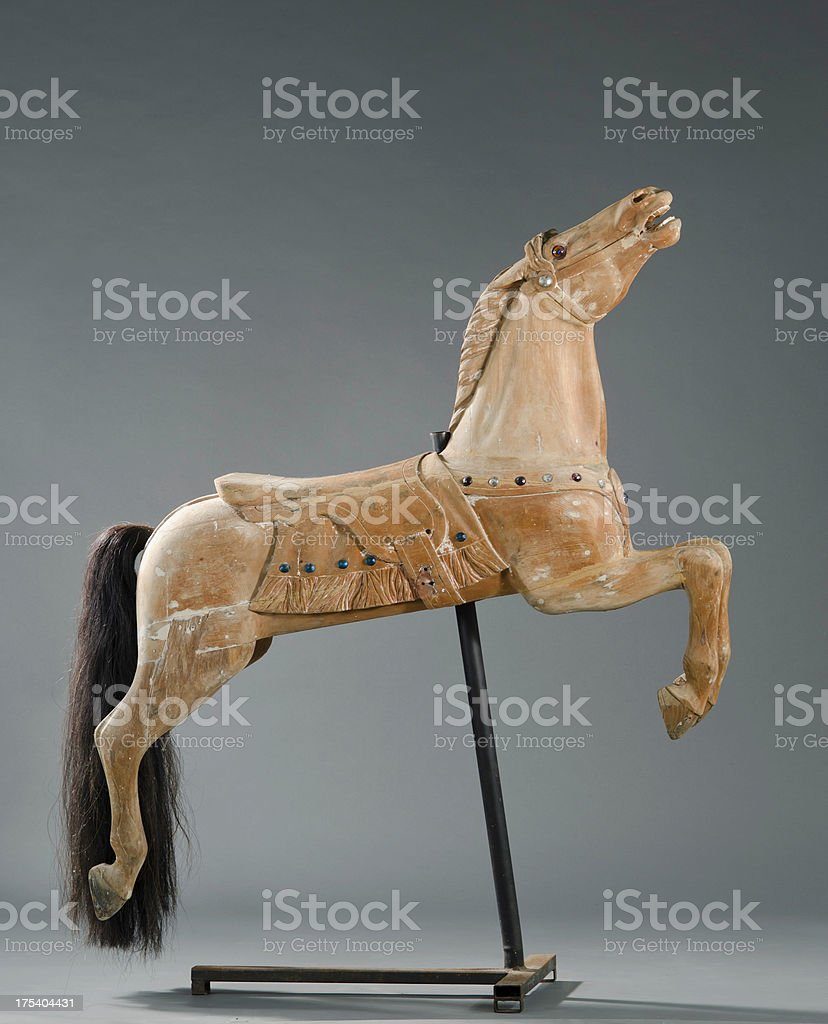Antique Carousel Horse stock photo