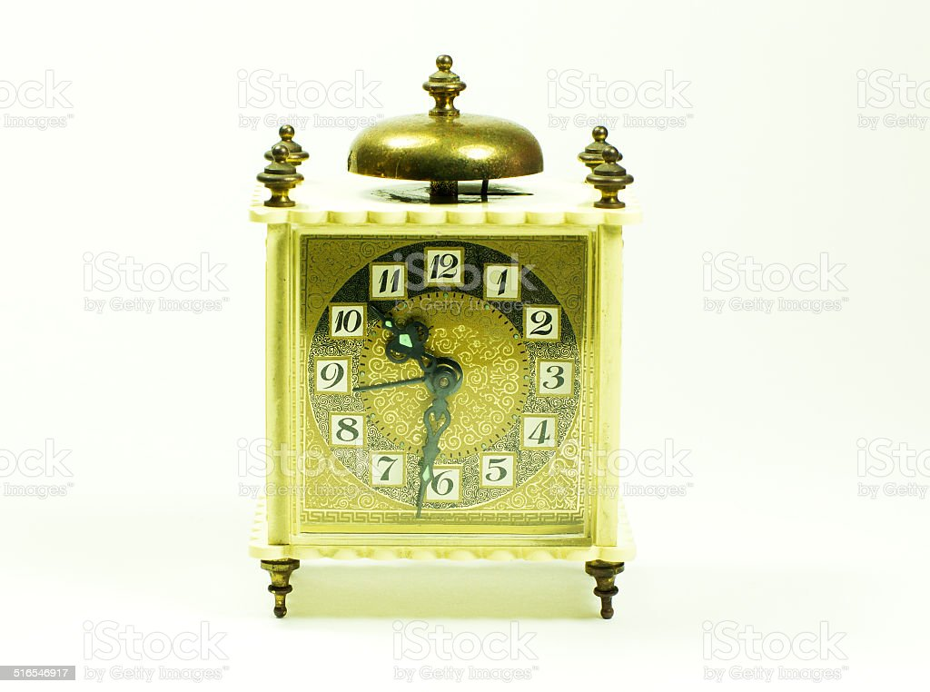 Antique Carriage Clock stock photo