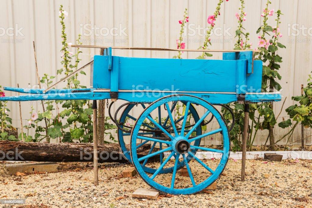 antique cart stock photo