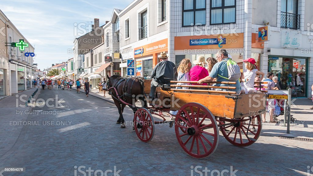 antique cart pulled by a horse stock photo
