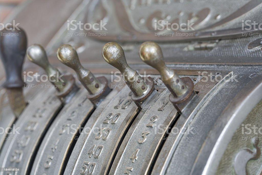 antique cash register royalty-free stock photo
