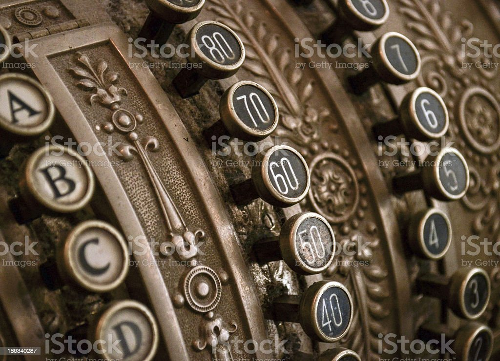 Antique cash register royalty-free stock photo