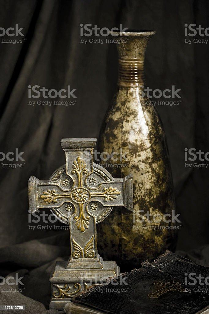 Antique Celtic Cross royalty-free stock photo