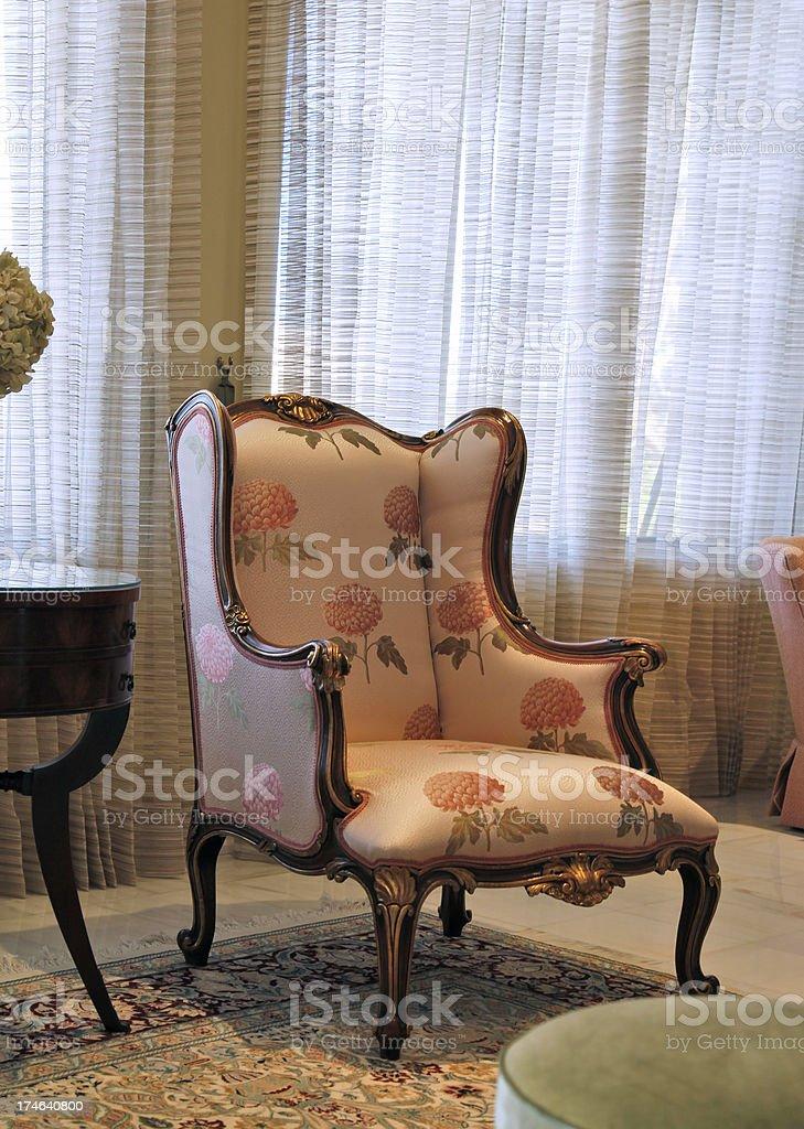 Antique chair stock photo