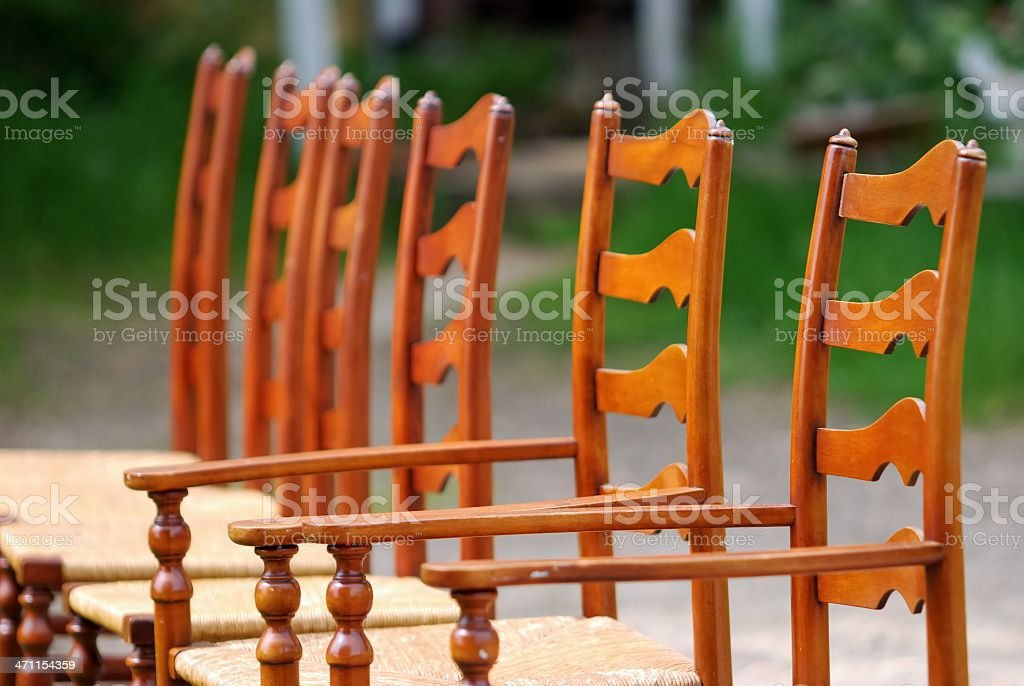 Antique chairs royalty-free stock photo