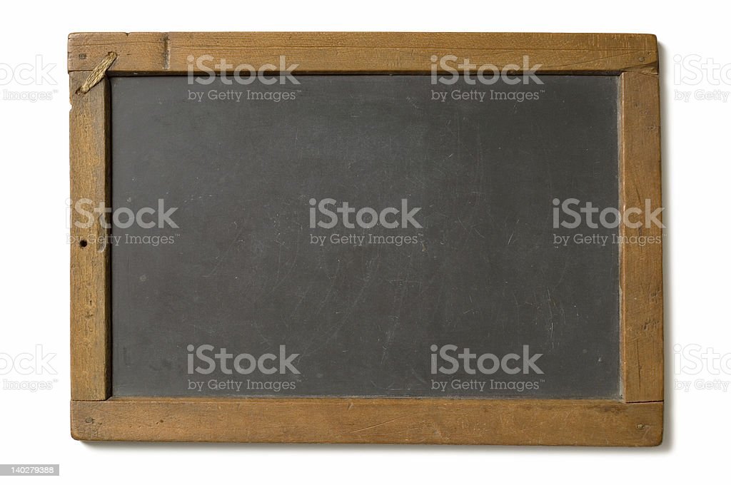 Antique Chalk Slate royalty-free stock photo