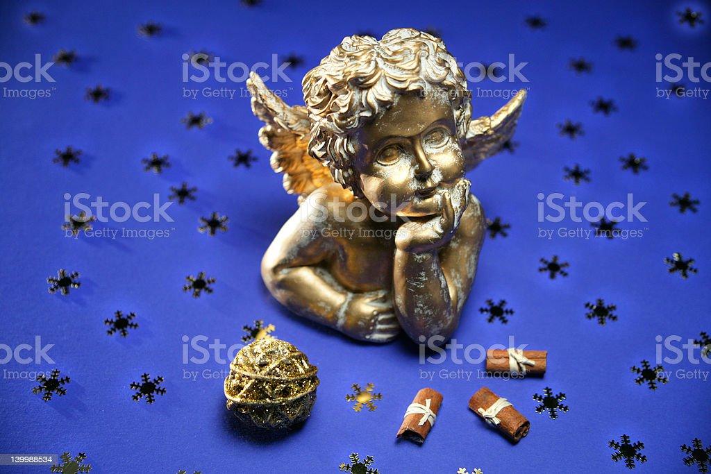 Antique cherub royalty-free stock photo