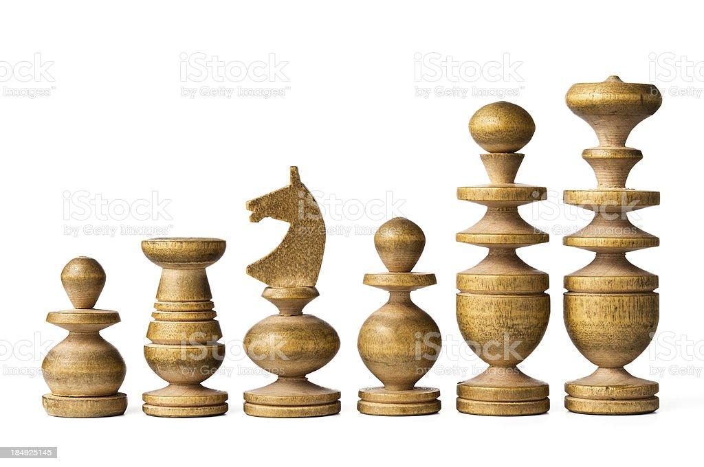 Antique chess pieces - white royalty-free stock photo
