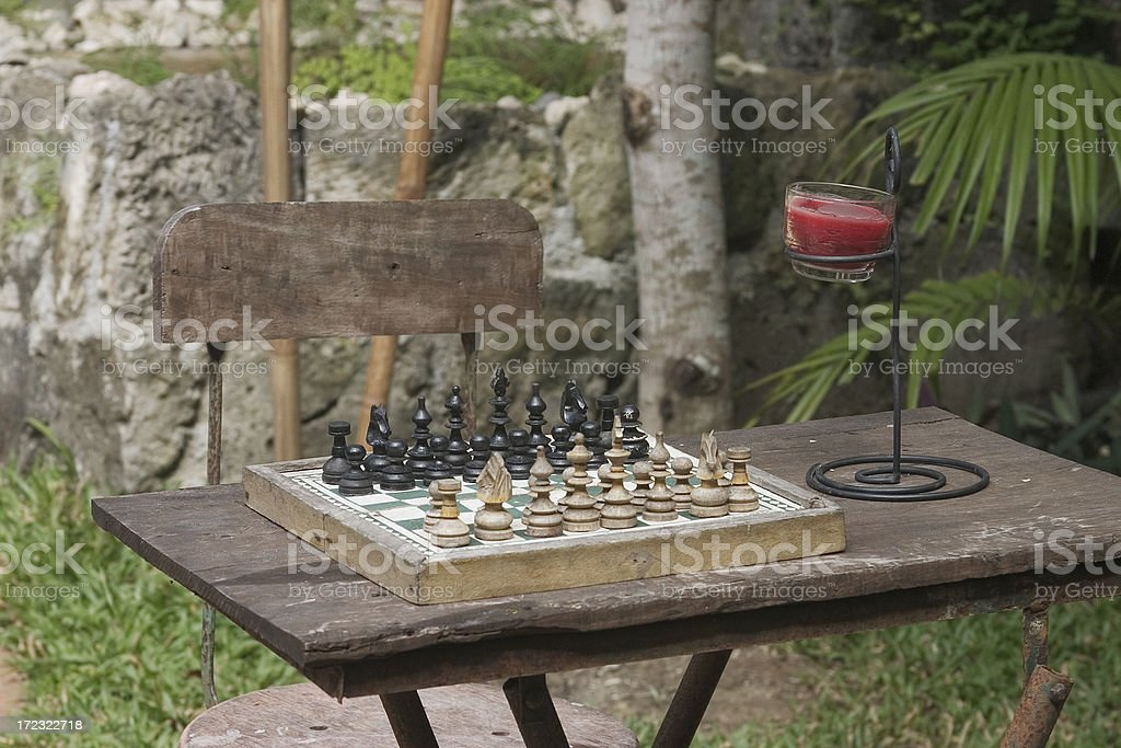 Antique Chessboard royalty-free stock photo