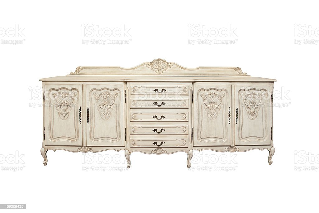 Antique chest of drawers stock photo