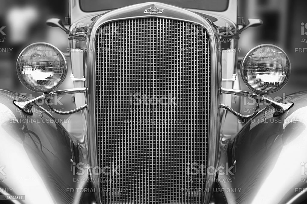 Antique Chevrolet grille royalty-free stock photo