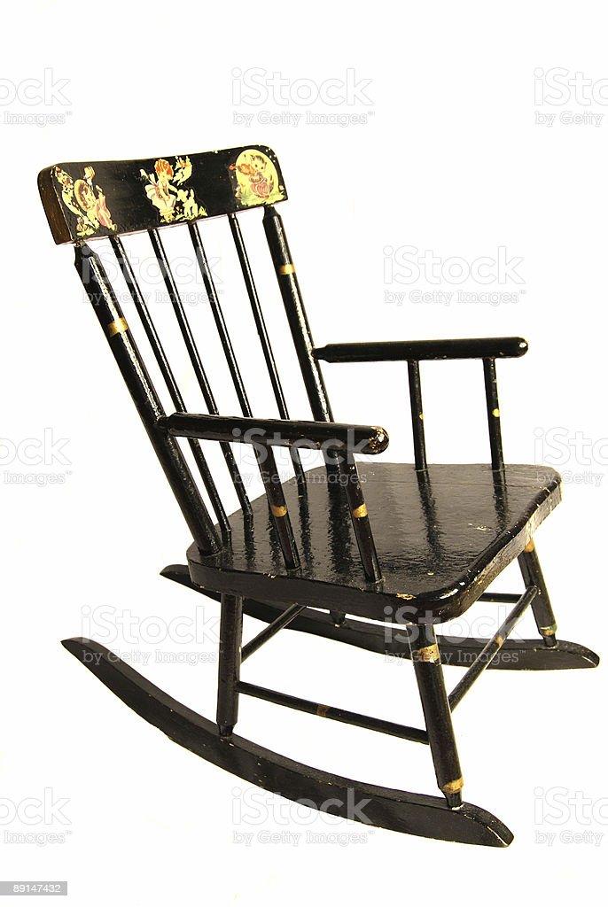 Antigo criança cadeira de balanço foto royalty-free