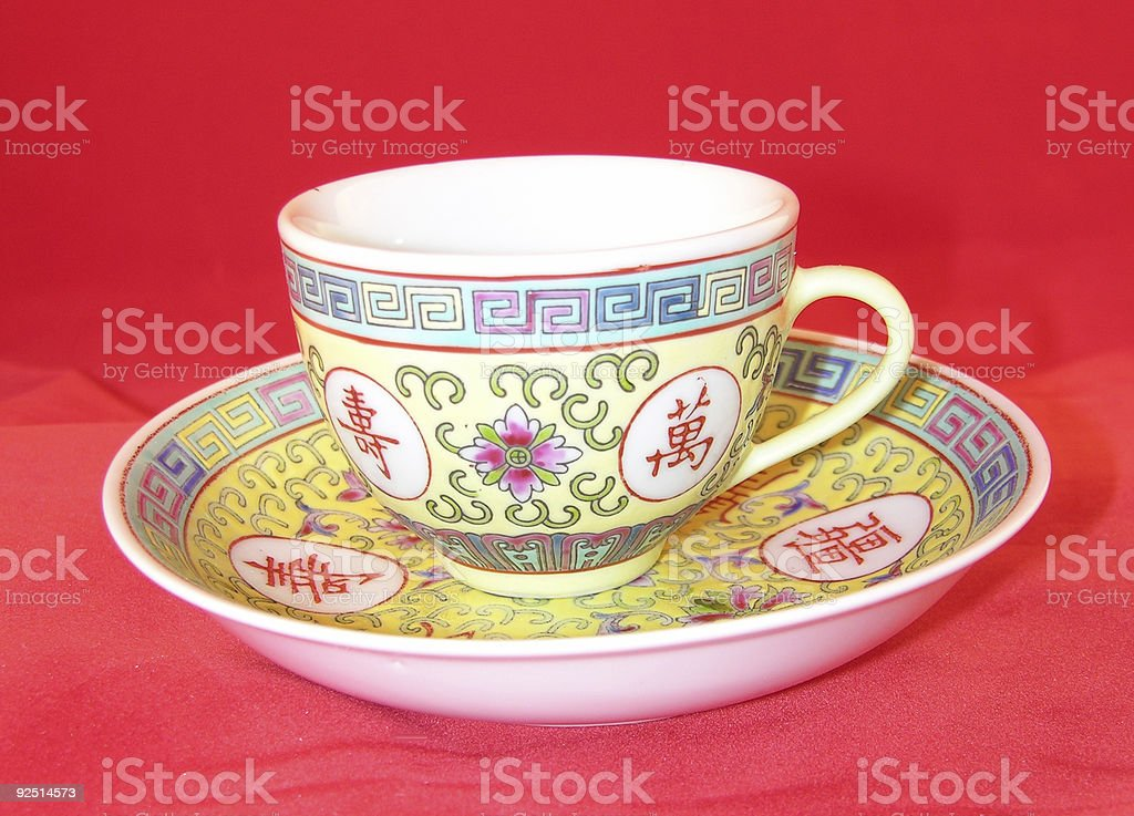 Antique China Cup royalty-free stock photo