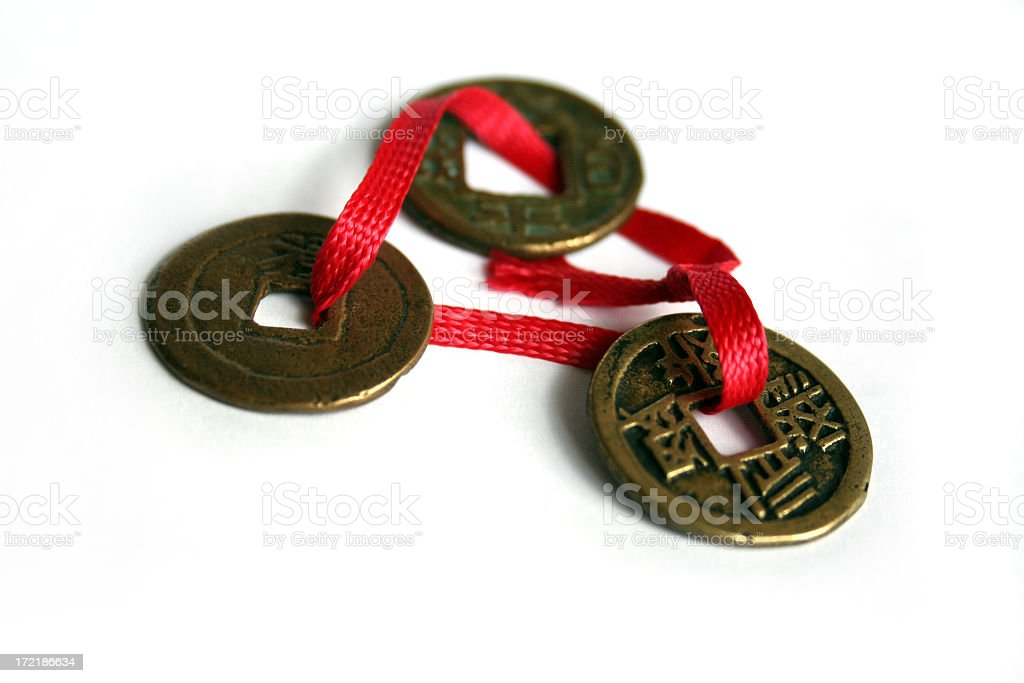 Antique Chinese Coins royalty-free stock photo