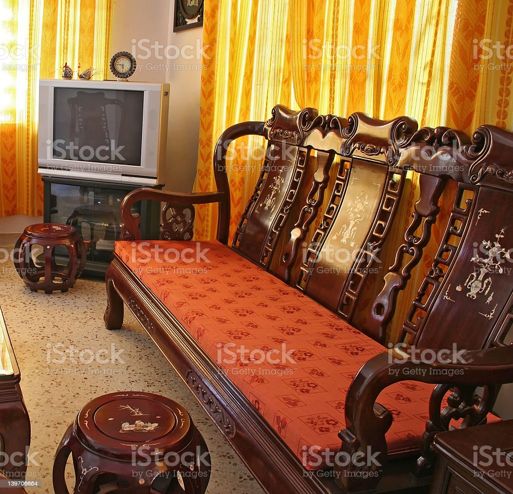 Antique Chinese Rosewood Furniture royalty-free stock photo