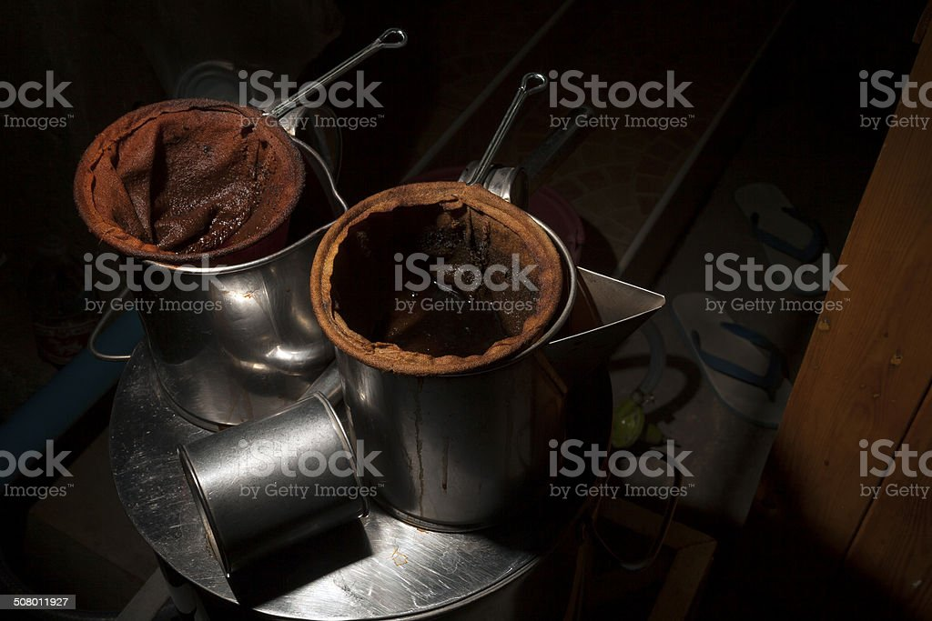 Antiken chinesischen Stil Kaffee-Mixer Lizenzfreies stock-foto