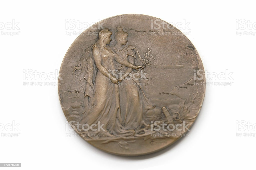 Antique City of London Medal stock photo