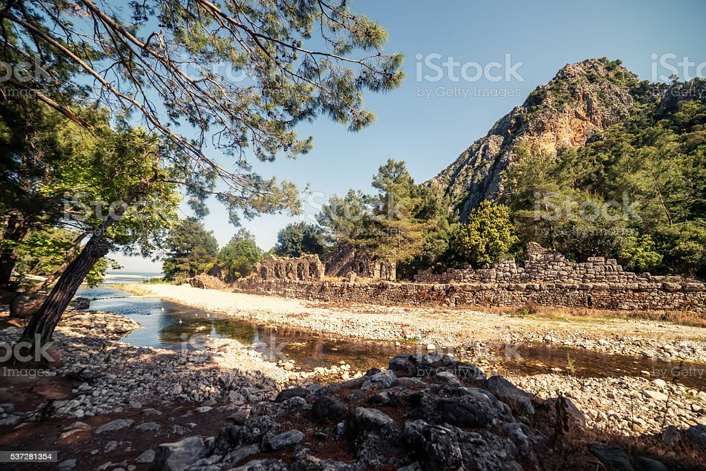 Antique city of Olympos, Antalya Destrict, Turkey stock photo