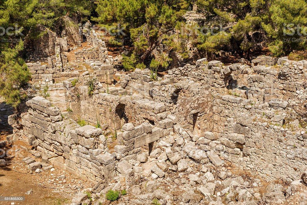 Antique city of Phaselis, Antalya Destrict, Turkey stock photo