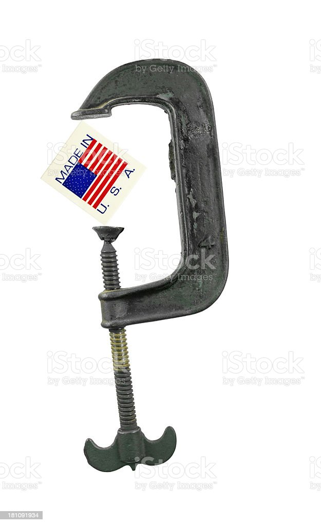 Antique Clamp USA royalty-free stock photo